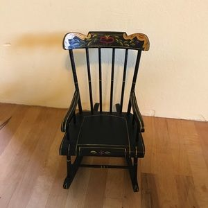 Vintage Pennsylvania Dutch Doll Rocking Chair